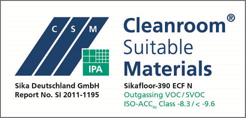 02-De-Sikafloor-390 ECF N-Logo-SI2011-1195_Ausgasung_VOCSVOC_TP01